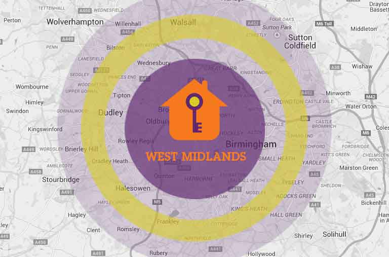 View the West Midlands areas that we cover